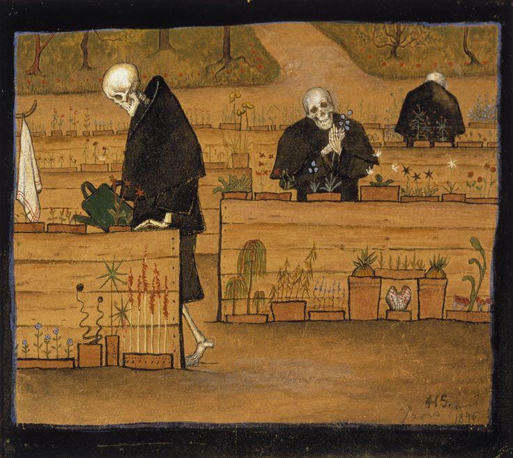 hugo simberg: kuoleman puutarha