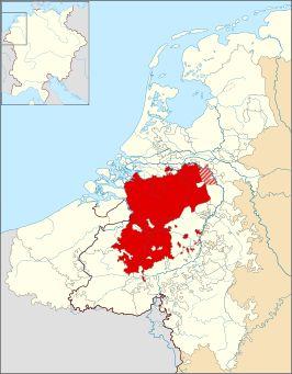 Het Hertogdom Brabant omstreeks 1350.