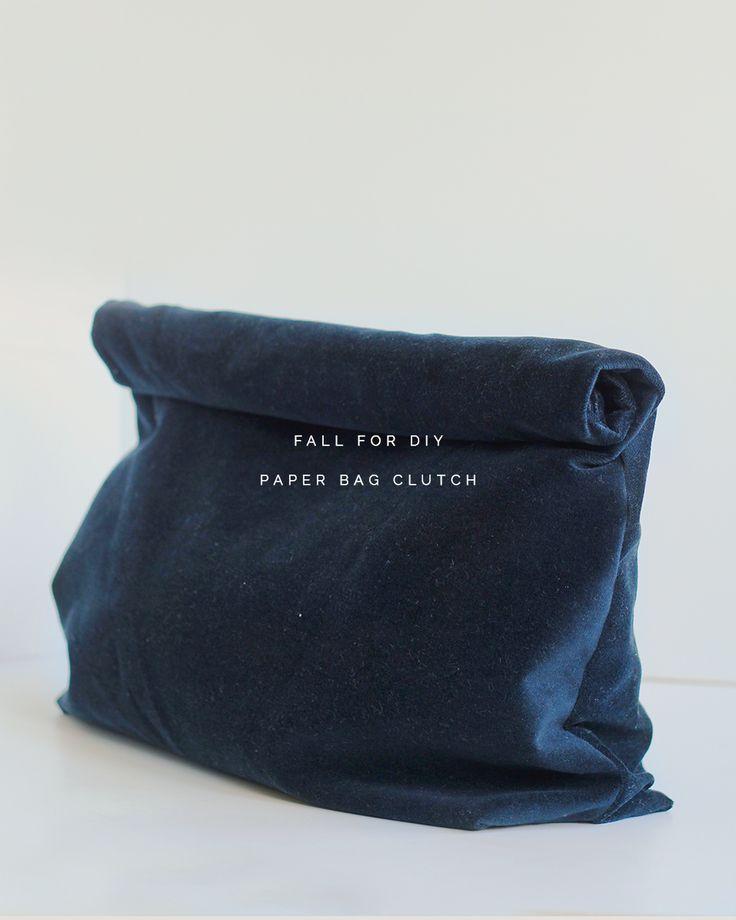DIY: paper bag clutch