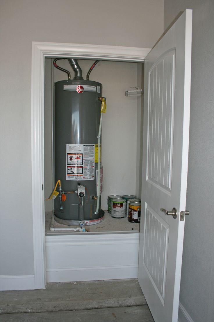 Garage Water Heater Closet  Flatland Homes by Trey Strong