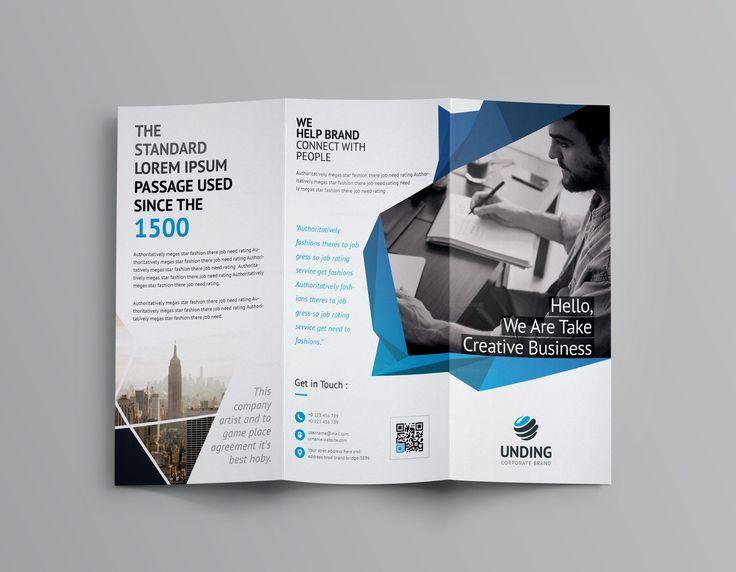 Fancy Business Tri-Fold Brochure Template 001170