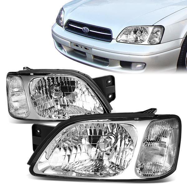 00 04 Subaru Legacy L Brighton 03 06 Baja Headlights Chrome Housing Clear Corner Subaru Legacy Subaru Legacy Gt Legacy Gt