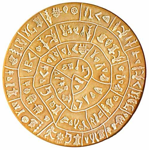 The Phaistos Disc (also spelled Phaistos Disk, Phaestos Disc) is a disk of fired…
