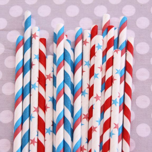 Yankee Doodle Dandy Straw Mix