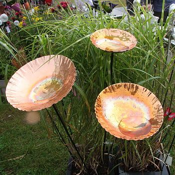 copper chalice garden bird bath sculpture by london garden trading | notonthehighstreet.com