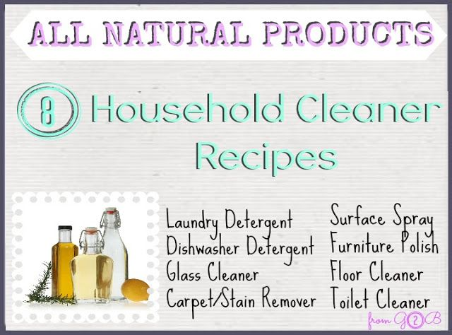 All Natural Household CLEANING SUPPLY Recipes