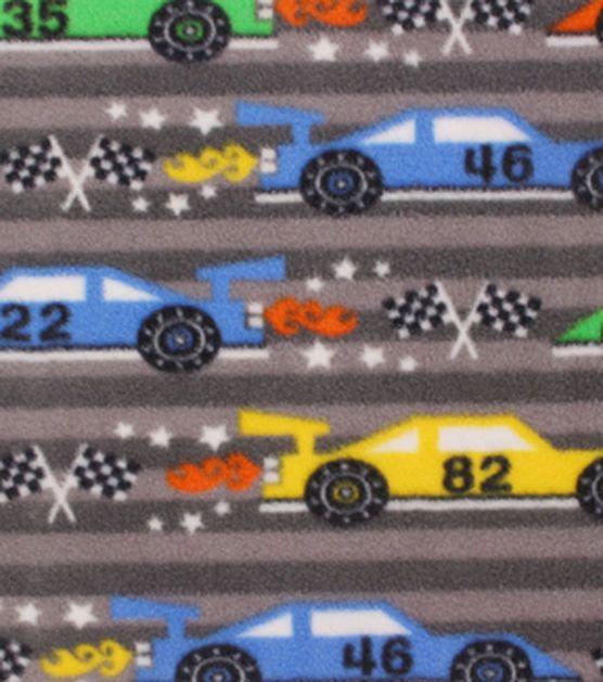 "Anti-Pill Fleece Fabric 59""-Race Cars Finish Line"