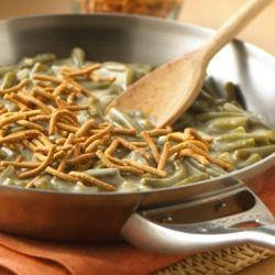 Cazuela de Habichuelas Verdes (Ejotes, Green Beans) Cremosas