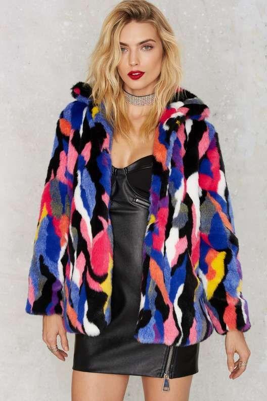 Favorite Color Faux Fur Jacket