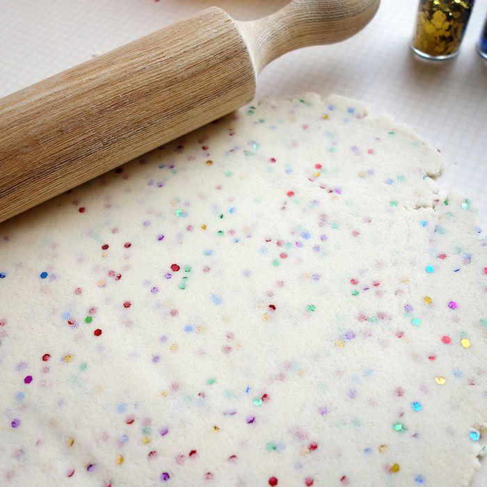 Bloesem kids   rainbow glitter salt dough diy
