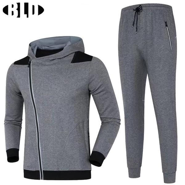 #BlackFriday is coming early #BestPrice #CyberMonday BLD Winer Warm Sport Suit Men Jogging Suits Cardigan Zipper Hooded Running Jacket and…