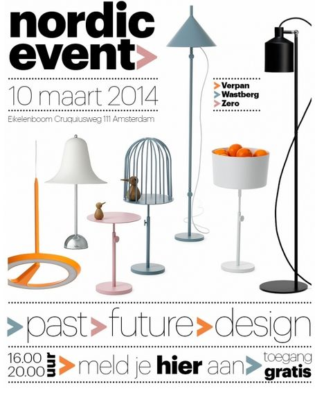 Interessant event in Amsterdam, vanmiddag vanaf 16:00.  Nordic Event   BF interieurarchitectuur gaat 'the new wave' in Scandinavisch design ontdekken in de showroom van Eikelenboom en laat zich inspireren door classics en new classics van de Stockholm Furniture en Lighting Fair.