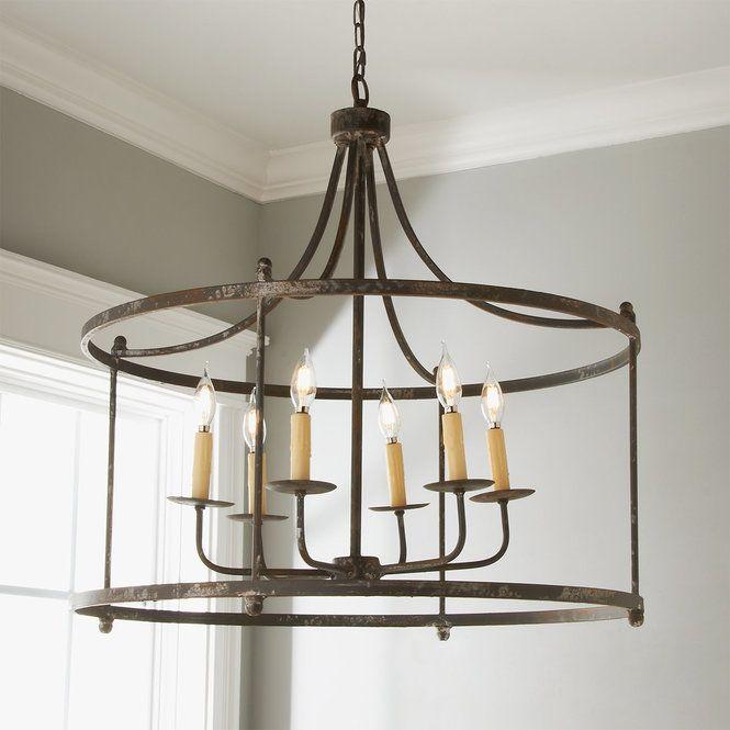 Weathered Belle Chandelier Dining Room Light Fixtures Rustic