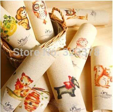Милые животные 20 * 20 см , окрашенной ткани комплект хлопок белье пэчворк ткани для подарок декор поделки ручной работы игрушка для пришивания ремесло домашний текстиль