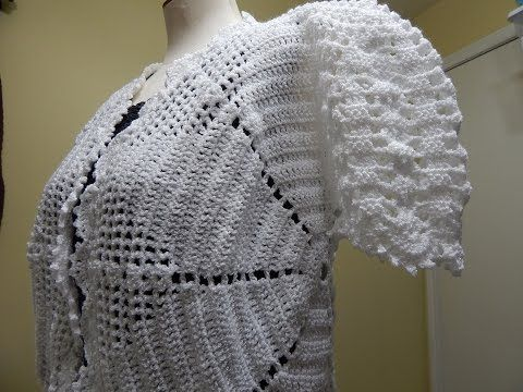 Bolero Blanco Crochet parte 1 de 3