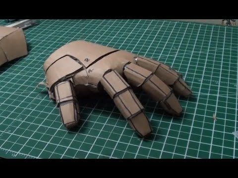 IRON MAN Mark 4 / 6 Costume Progress- Cardboard Repulsor Gauntlet Base Parts - YouTube