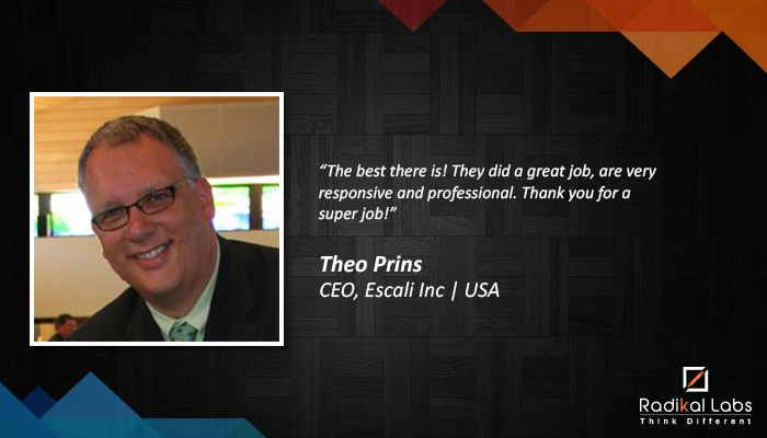 Check out what Theo Prins | CEO, Escali Inc | USA has to say about his experience with Radikal Labs.