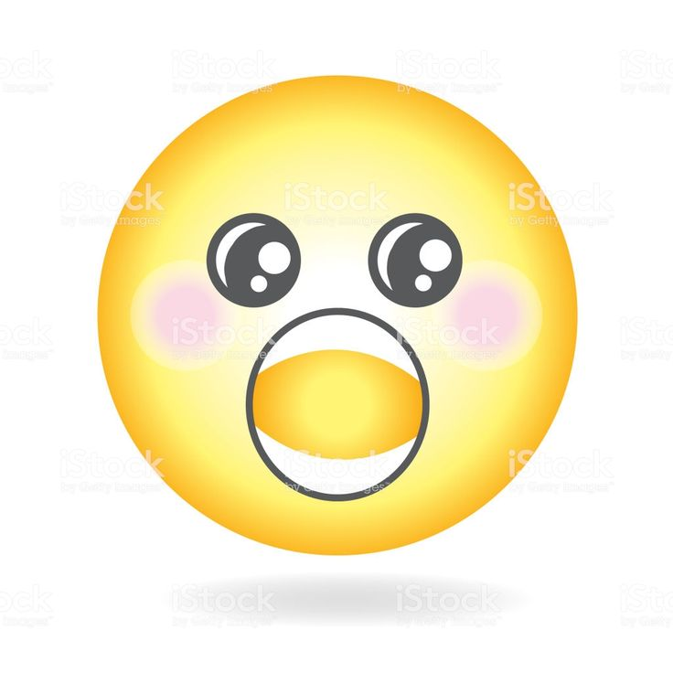 Shock or awe Emoji or emoticon icon Simple royalty-free ...