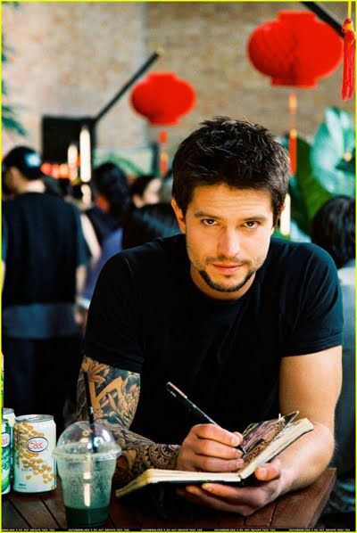 jason behr with tattoos...