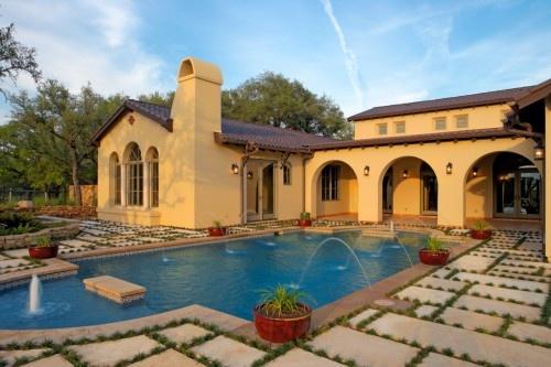 Hacienda style!: Spanish Oaks, Spanish Courtyard, Dream House, 4500 Spanish, Spanish Style, Spanish Colonial, Photo, Pools