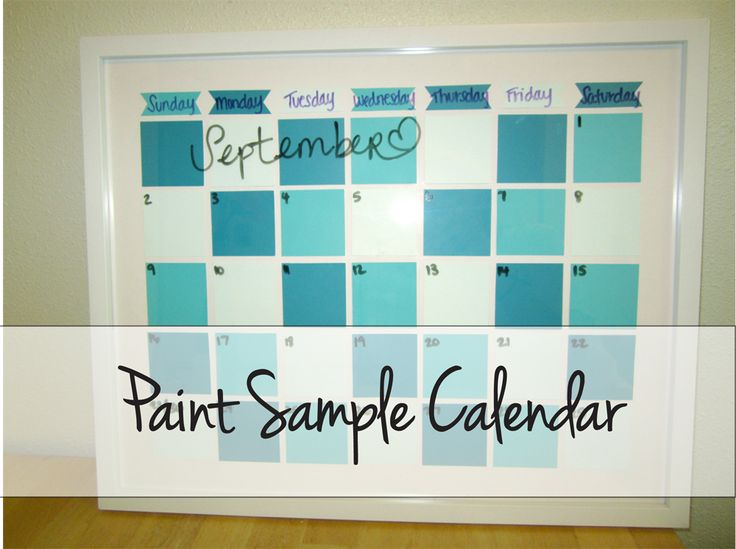 Scissors and Pearls: Paint Sample Calendar