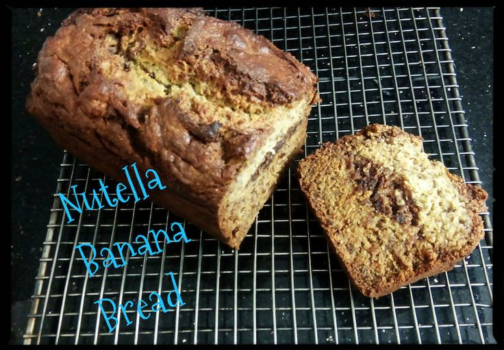 Nutella Banana Bread! Check out our video. Expand the pin!