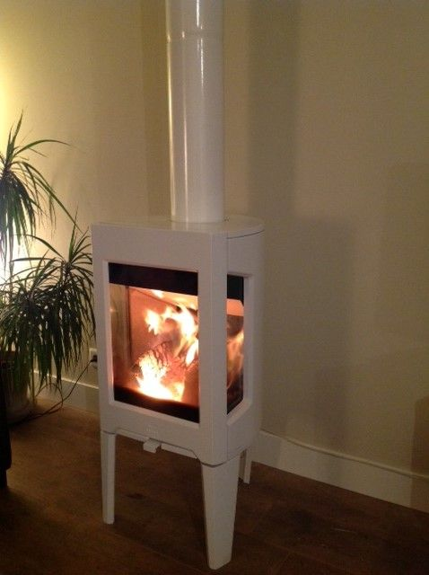 Jotul- F163 in white is a great way to inject some excitement into any room. http://jotul.com/uk/products/wood-stoves/Jotul-F-163