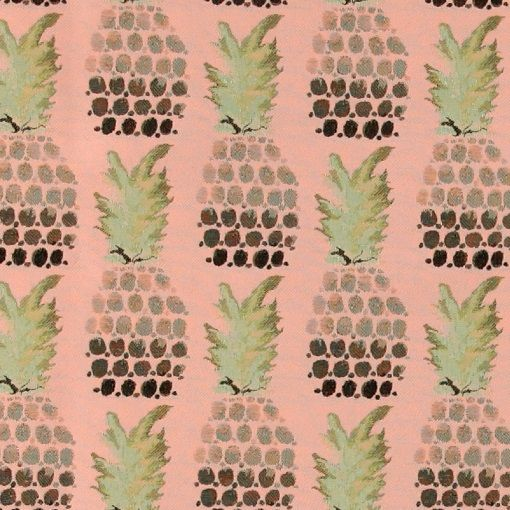 Jacquard rose w pineapple - Great pink / rose fabric with tropical print - pineapple print. Ideal  for eg. Pillows, jackets or other DIY projects.