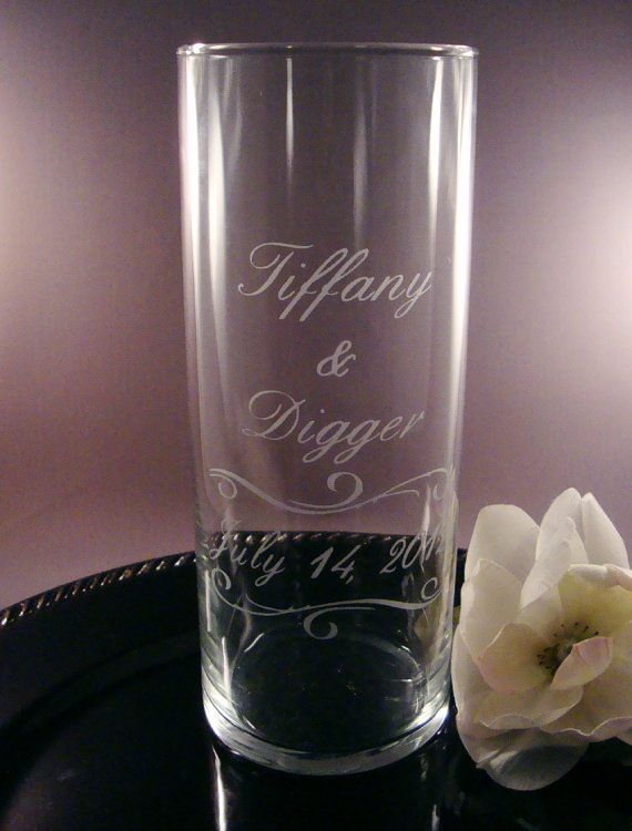 Hey, I found this really awesome Etsy listing at https://www.etsy.com/listing/110400285/wedding-unity-candle-vase-personalized