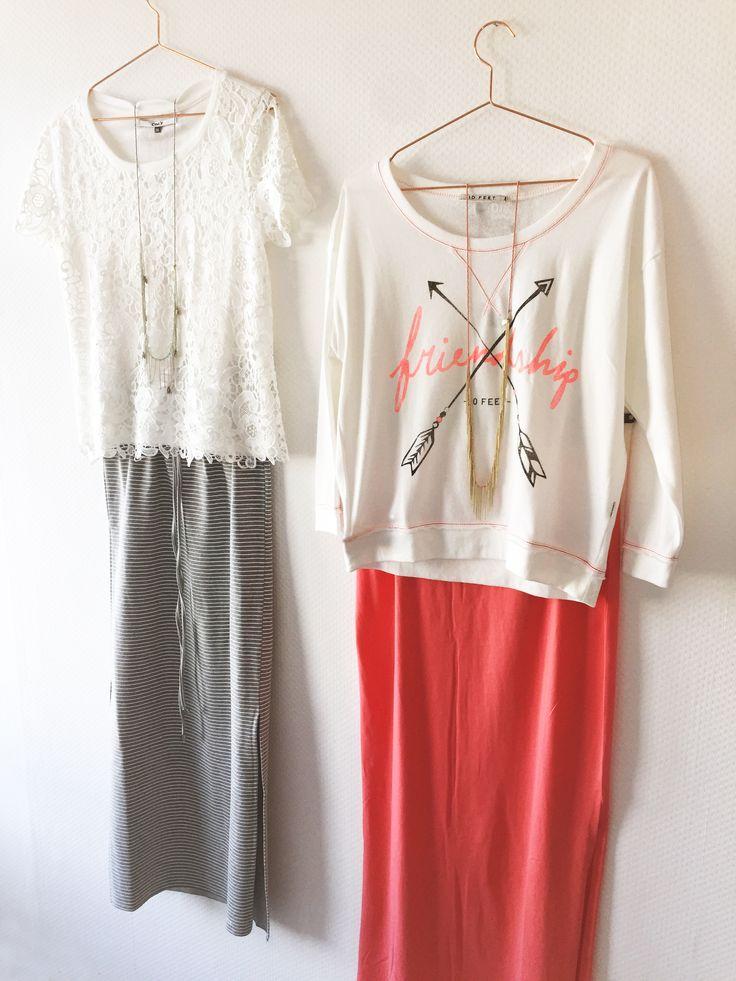 Jaa wij zijn blij! Eindelijk weer voor de lange rok!  Wij hebben er genoeg! In de winkel en online! www.steegengamode.nl #Steegengamode #fashion #women #maxidress #spring #summer #pink #inspiration #outfit