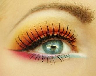 pretty: Sunsets Eye, Eye Shadows, Eye Lashes, Colors Eye, Fun House, Fun Ideas, Eyeshadows, Hair Makeup Fashion, Pretty Eye Makeup