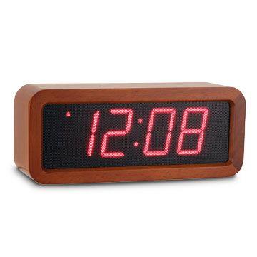 ウッドメッシュLEDクロック ダークブラウン - 置時計 - 通販カタログ - スタイルストア