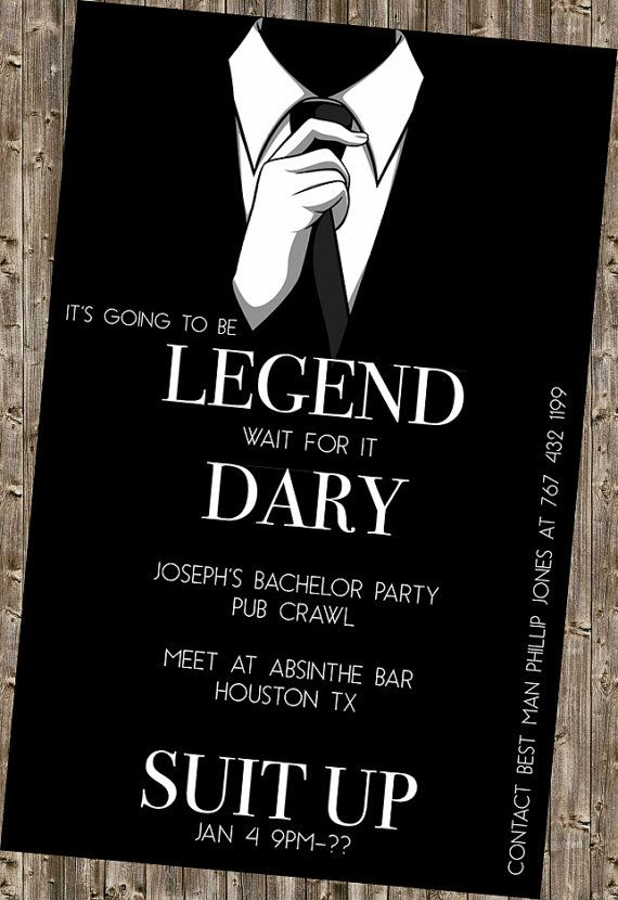 Bachelor Party Invite  legendary HIMYM by DesignsByKepi on Etsy, $6.00