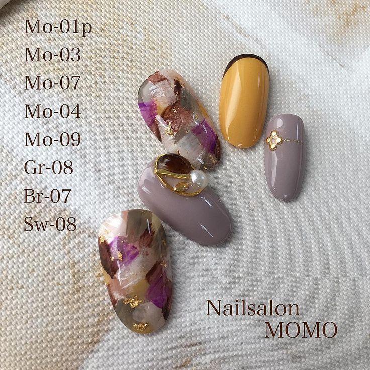 "317 Likes, 2 Comments - Mariko tanabe (@nailsalonmomo) on Instagram: ""#nail#nails#nailart#nailstagram#autumnnails…"""