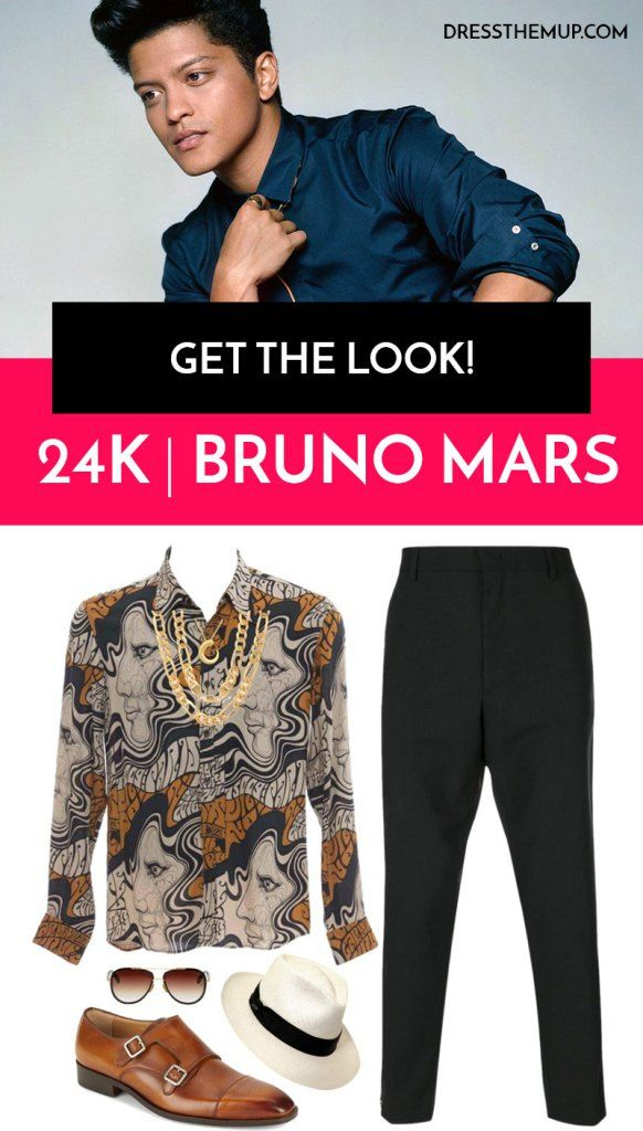 Love Bruno Mar's Style? Then get the look with this outfit. Featuring clothing and accessories by: Dries Van Noten shirt, Alexander McQueen pants, and more!