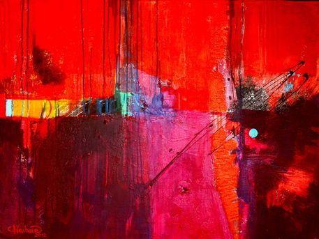 'Red World' von Claudia Neubauer bei artflakes.com als Poster oder Kunstdruck $6.48
