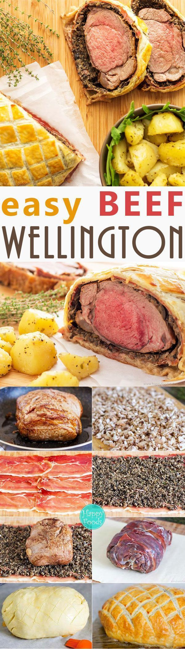 Easy Beef Wellington with Mushroom & Jam�n - Fine Dining, Classical British Food, Home Cooking, Best Beef Wellington, Recipe | happyfoodstube.com