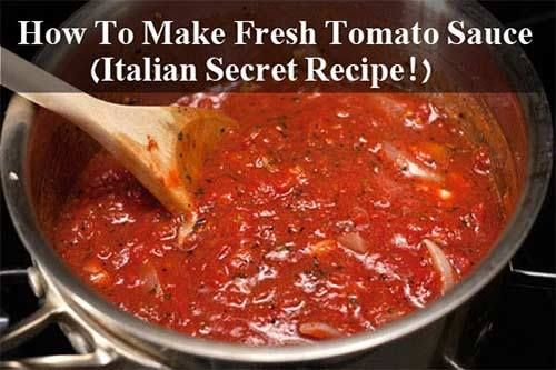 How To Make Fresh Tomato Sauce (Italian Secret Recipe!) Store bought pasta sauce or tomato sauce is great but did you know that you can make authentic Italian tomato sauce for a lot cheaper and a lot less additives than the store bought varieties? I wanted to test this recipe out so my darling wife…