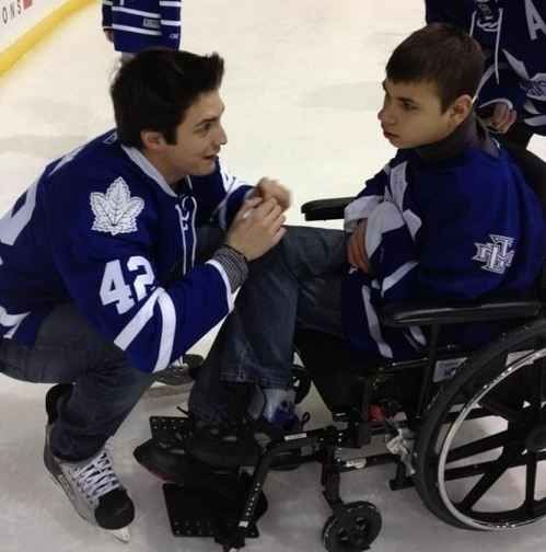 Toronto's Tyler Bozak has a sweet moment with a seriously ill teen. | 50 Adorable Pictures Of NHL Players With Kids That Are Going To Melt Your Ovaries