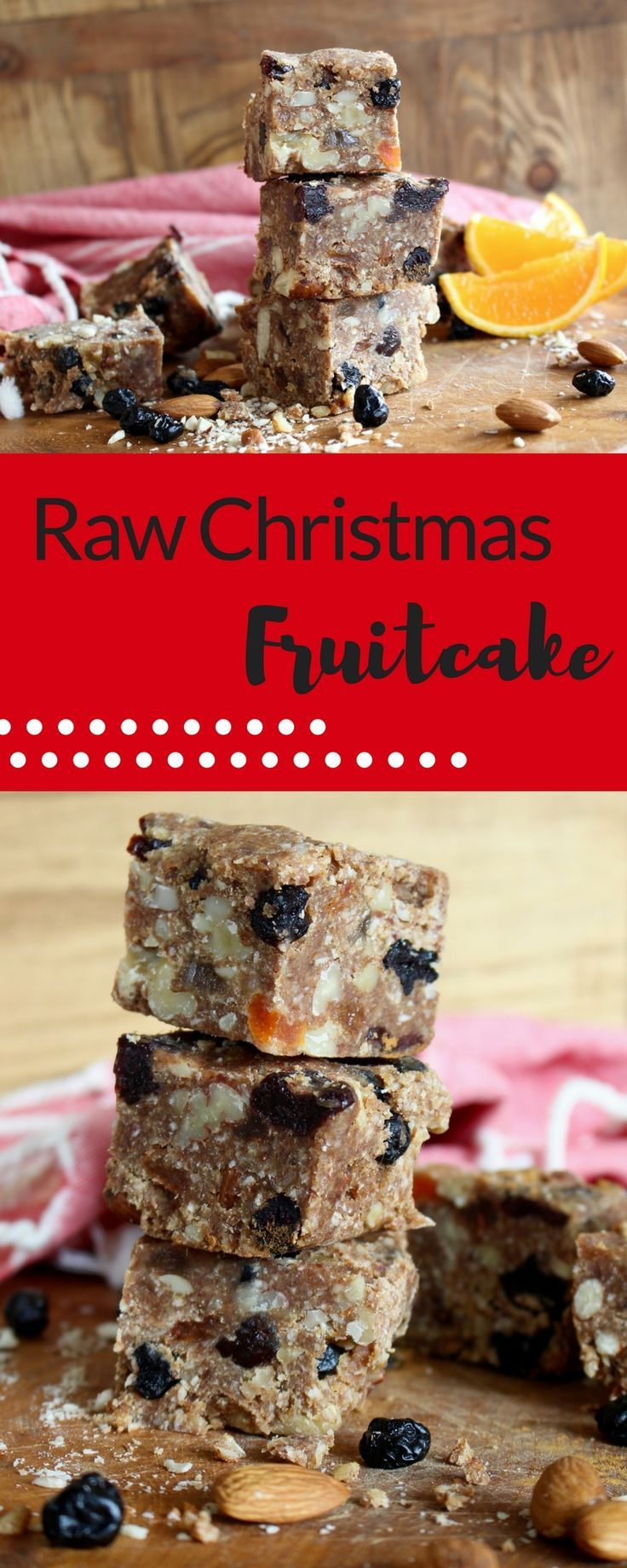Make this no bake fruitcake using dates, nuts and your favourite combination of dried fruits.