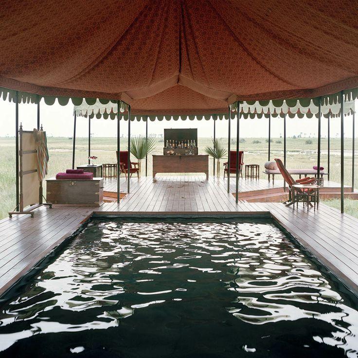 http://www.theluxurysafaricompany.com/botswana/makgadikgadi-pans/jacks-camp The inviting pool at Jack's Camp...