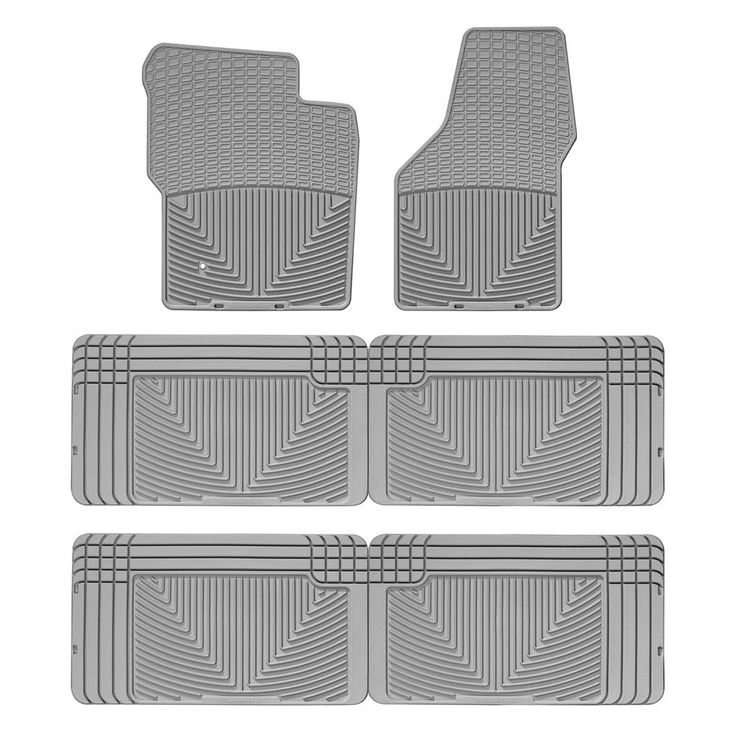WeatherTech W19GR-W25GR-W25GR Series Grey All Weather Floor Mats - All Rows - All-Weather Floor Mats The WeatherTech(R) All-Weather Floor Mats have deeply sculpted channels designed to trap water, road salt, mud and sand. Our proprietary engineered odorless resin ensures that these mats will not curl, crack or harden in sub-zero weather. Our All-Weather Floor Mats also have anti-skid ridges to prevent shifting in your vehicle and come with a protective, non-stick finish to make cleanup quick…