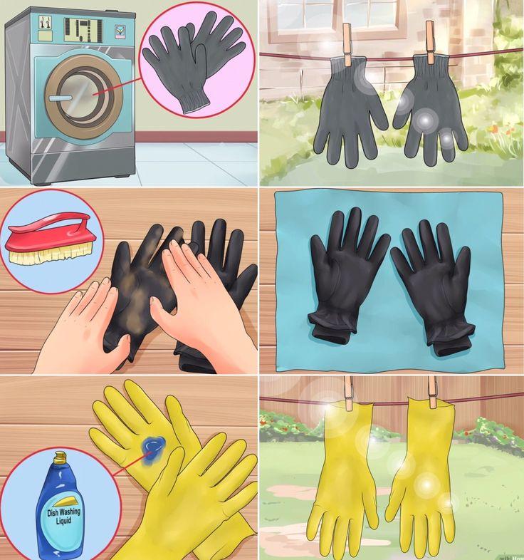 'Clean Garden Gloves...!' (via wikiHow)