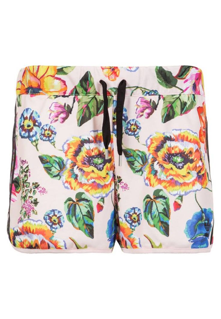 adidas Originals. FLORALITA  - Shorts - multicolor. Outer fabric material:100% polyester. Care instructions:machine wash at 30°C. Pattern:floral. Details:elasticated waist. Length:cropped. Rise:normal