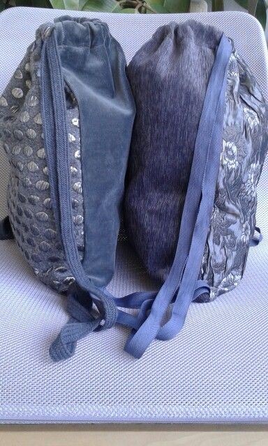 Grey & silver backpack