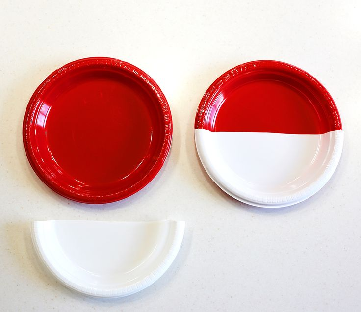 diy pokemon pokeball plates - step 2