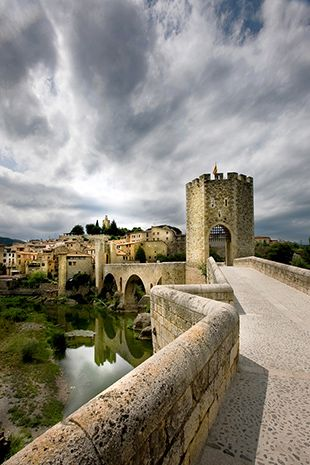"Experimenting with perspective in your photo compositions.    ""Besalu Catalonia"" captured by David Hobcote. (Click image to see more from David Hobcote.)"