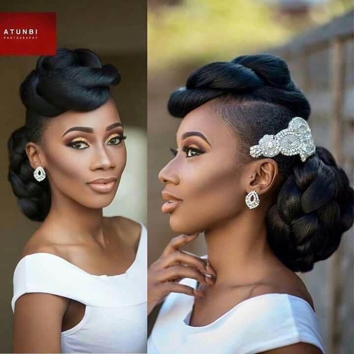 Bridesmaid Natural Hairstyles Updo For The Entire Wedding Party Natural Hair Wedding Natural Hair Styles Natural Wedding Hairstyles