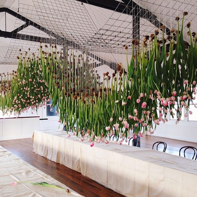 1000 tulips suspended, inspired by Joost Bakker. By Phil (afloralfrenzy)