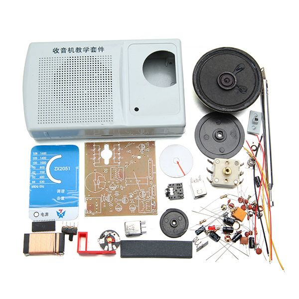 DIY ZX2051 Type IC FM AM Radio Kit Electroinc Learning Kit